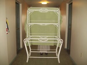 ANTIQUE FRENCH BAKERS RACK ORIGINAL PAINT GREAT SHABBY CHIC