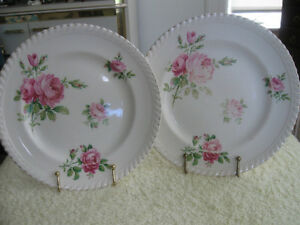 "POPULAR OLD PAIR VINTAGE JOHNSON BROS. 8"" DINNER PLATES"