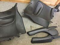 Peugeot 206 cc 16v 1.6 black full back panel set