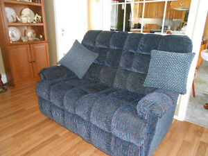 LOVE SEAT AND MATCHING RECLINING CHAIR