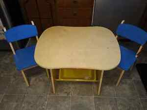 Toddlers desk and chairs.