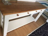 Oak/ pine solid heavy console table -Poundbury Dorchester