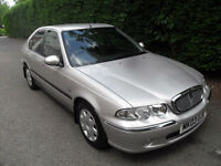 Rover 45 2.0TD Spirit, 5 Door,Low Miles, Silver.