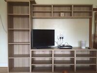 IKEA Besta TV/shelving unit.
