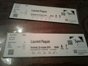 2 Billets Spectacle Laurent Paquin - Thetford Mines - 25-10-2019
