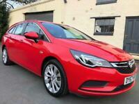 17 67 Vauxhall Astra 1.4i 16v (100) Design Sport Tourer Lava Red **24000 MILES**