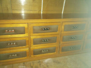 Vintage Original Modern 3 piece Bedroom set Dresser Oak Velour