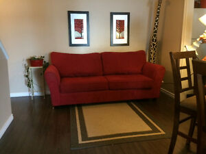 Clean sofa and love seat