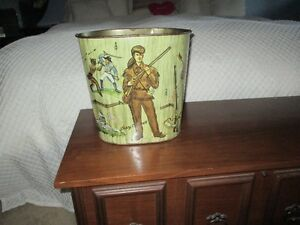 1950's Davy Crockett Waste Paper Basket