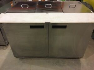 LIKE NEW PREP TABLE! LARGE UPRIGHT FREEZER & BUFFET STEAM TABLES
