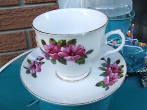 Ad9- Vintage Bone China Cups & Saucers - $8.00 +