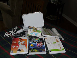 Nintendo Wii system and step Board