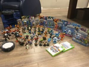 75 total skylanders, Tower, portal, 2 skylander games