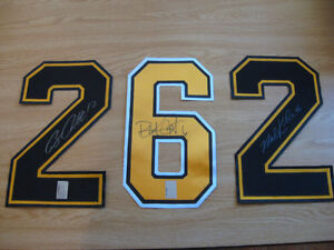 NHL BOSTON BRUINS PRO JERSEY SIGHNED AUTHENTIC NUMBERS Cambridge Kitchener Area image 2