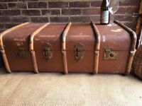 GENUINE VINTAGE TRUNK CHEST FREE DELIVERY COFFEE TABLE INDUSTRIAL BOX SALE!