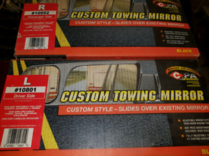 Towing mirror extensions