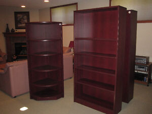 Cherrywood Bookcases/Wall Units