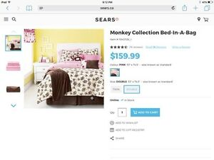Kids Playful Monkey Bedding