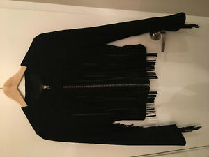 Aritzia Mackage Leather / Suede Moto Jacket with Fringe