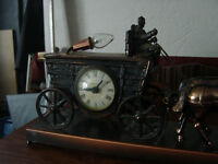 Antique carriage with four horses