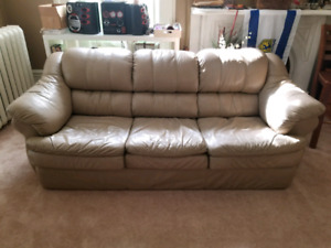 Beautiful All Leather Couch