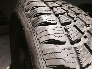 Set of 4 almost new 225/65R16 Winter tires on rims