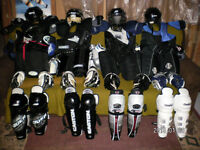 Full Complete Set of Men's/SR equipment with Helmet & Skates