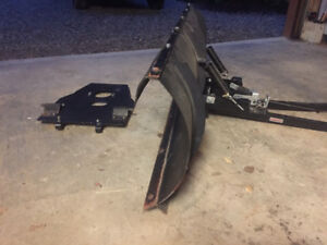 ATV snow plow and mounting plate