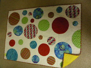 Great  colorful home made Baby or Lap quilt