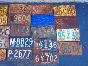 COOL OLD LICENSE PLATE FOR SHOP, MAN CAVE OR SIGN DECOR Only $10 Kitchener / Waterloo Kitchener Area image 10
