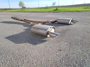 2015+ Ford Mustang GT factory exhaust / mufflers complete