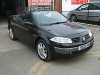 RENAULT MEGANE 1.6 VVT DYNAMIQUE 115 COUPE CABRIOLET COVERTIBLE NERO BLACK