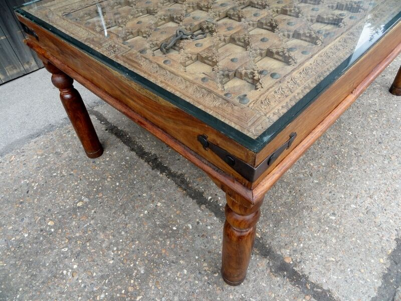 Rustic Indian Carved Wood Door Table VintageAntique  : 86 from www.gumtree.com size 800 x 600 jpeg 117kB