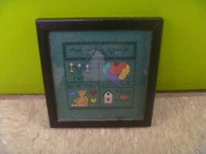 Small Framed Needle Point