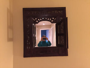 Wood mirror from Thailand