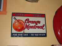 1920 extremely  RARE Buvez ORANGE MONTREAL Drink advertising
