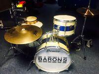 Beautiful Vintage Premier Drum Kit with Extras