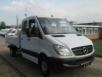 2011 61-REG Mercedes Benz Sprinter 313CDI CREW DOUBLE CAB TIPPER - 7 SEATS