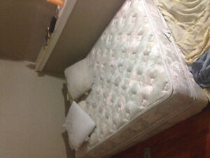 """Double queen mattress plus box spring """"like new"""""""