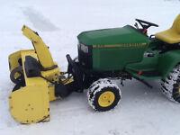 455 John Deere lawn tractor & snowblower