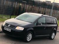 VW Volkswagen Touran 1.9 TDI Diesel, Manual, 7 Seats, BLACK, 117k Mileage