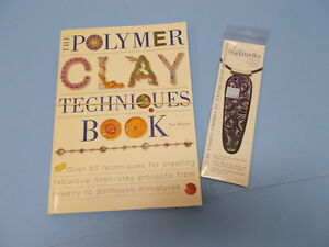 Polymer Clay book and stamp