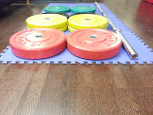 305LBS York Olympic Bumper Plate Weight Set