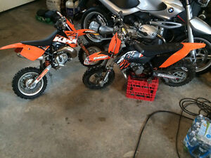 KTM 50cc  Mini  and SX Junior