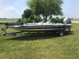 1992 stratos 201 pro bas bass boat