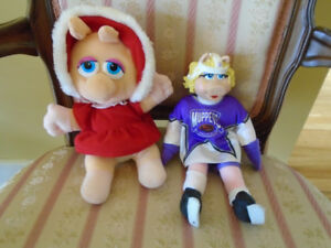 vintage 2 toutou  Muppets NHL/ Baby  Miss Piggy
