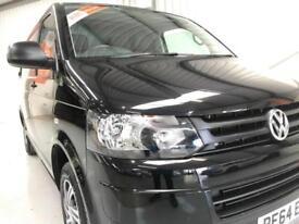 VW VOLKSWAGEN TRANSPORTER LOW MILEAGE 18,000 T5.1 2.0TDI SWB TRENDLINE BLACK