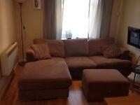 Corner sofa + ottoman