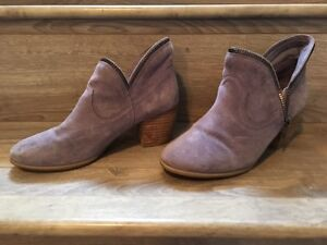 Lilac Suede Boots- Size 8