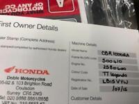 Honda CBR1000RR A Fireblade Official TT Legends Ltd Edition